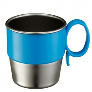 stainless cup blue