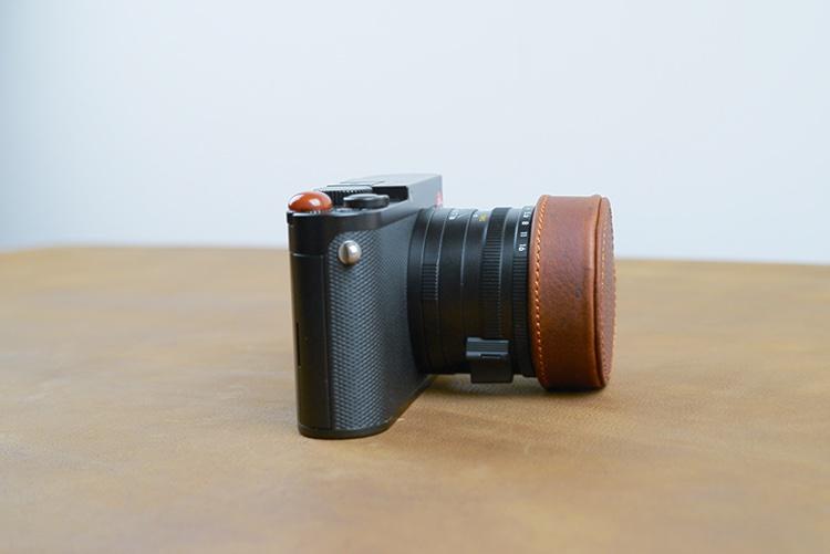 Haoge Metal Front Lens Cap Cover for Leica Q Q2 Q-P QP Typ 116 Typ116 Camera Black