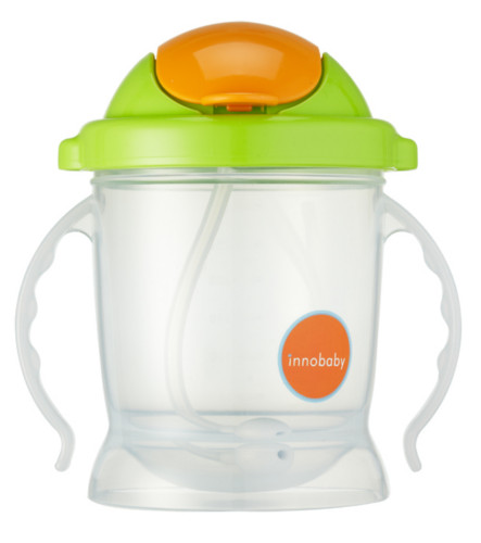 plastic sippy green